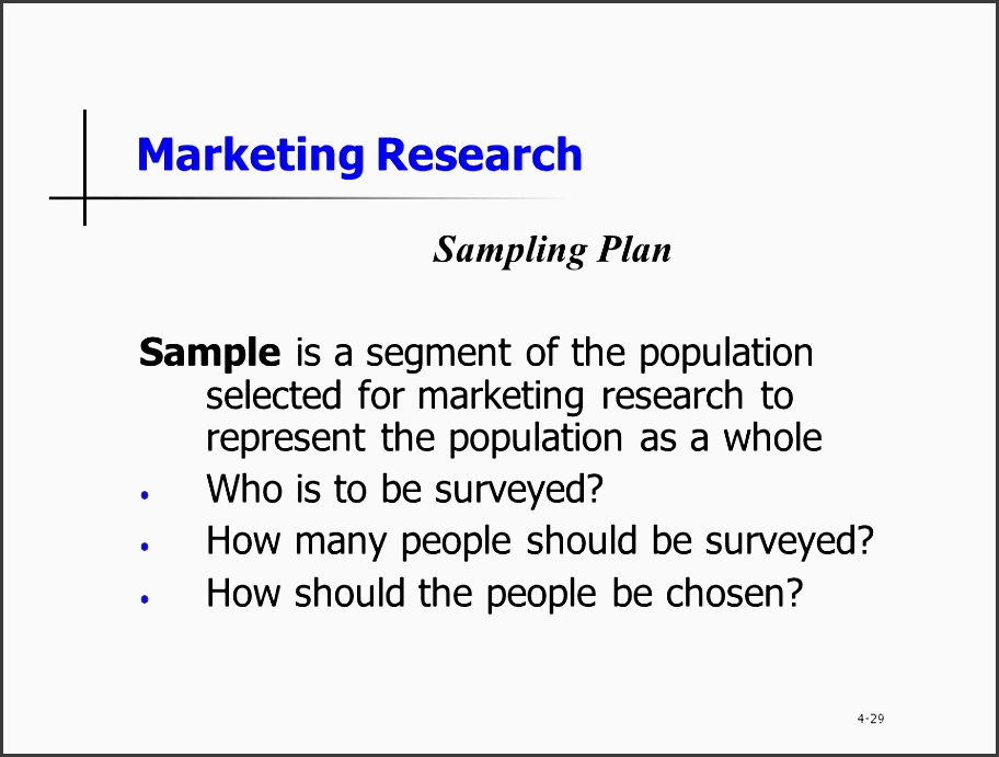 23 marketing research sampling plan