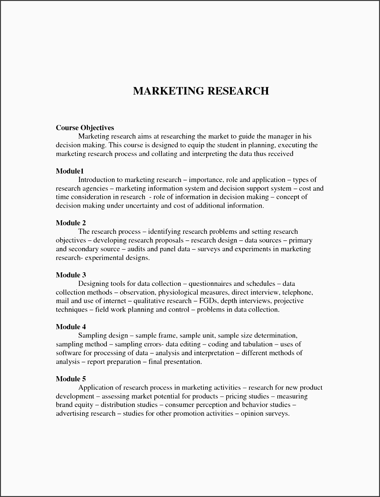 marketing research proposal example