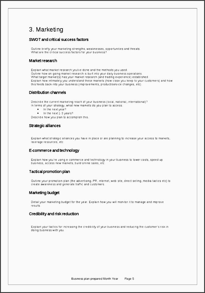 business plan template 5