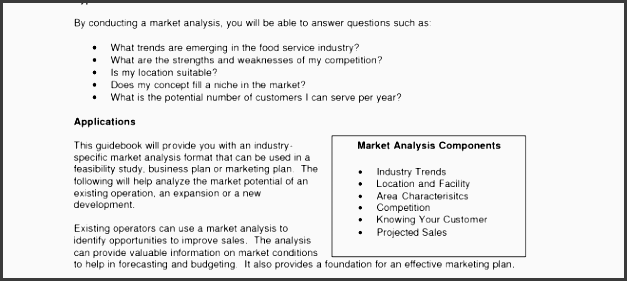 market analysis business plan template and market research business plan sample