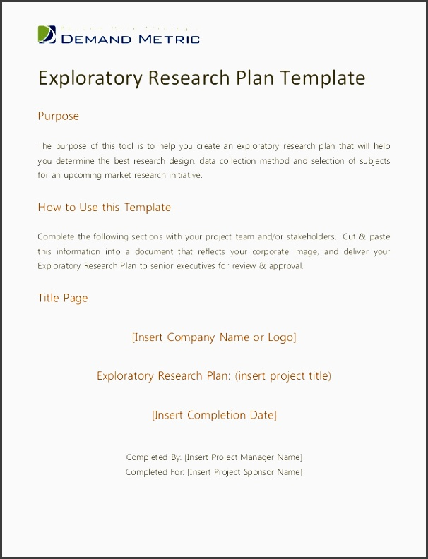 exploratory research plan templatepurposethe purpose of this tool is to help you create an exploratory research
