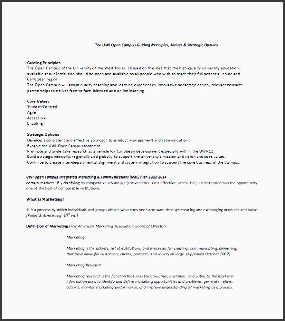 how to develop an integrated marketing munication plan template