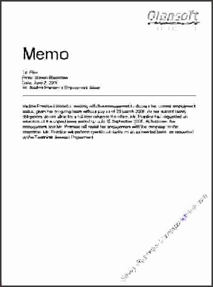 business memo sample 5