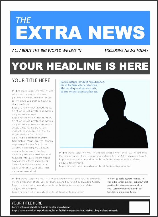 7 business newspaper template