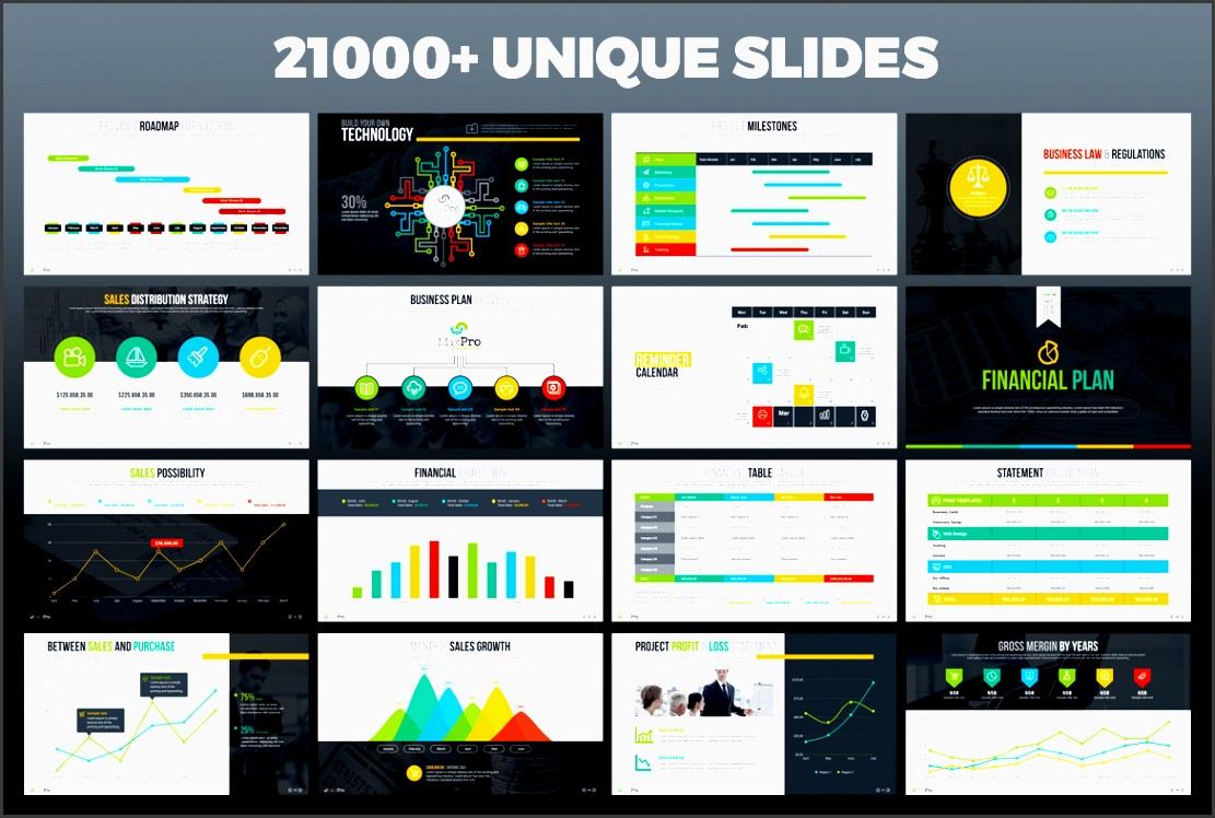 maxpro business plan powerpoint template big screenshot