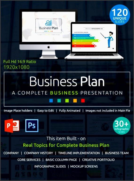 creative business plan ppt presentation in 120 slides businessplan powerpointpresentation