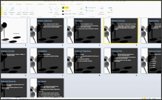 business plan template for powerpoint 2007 1