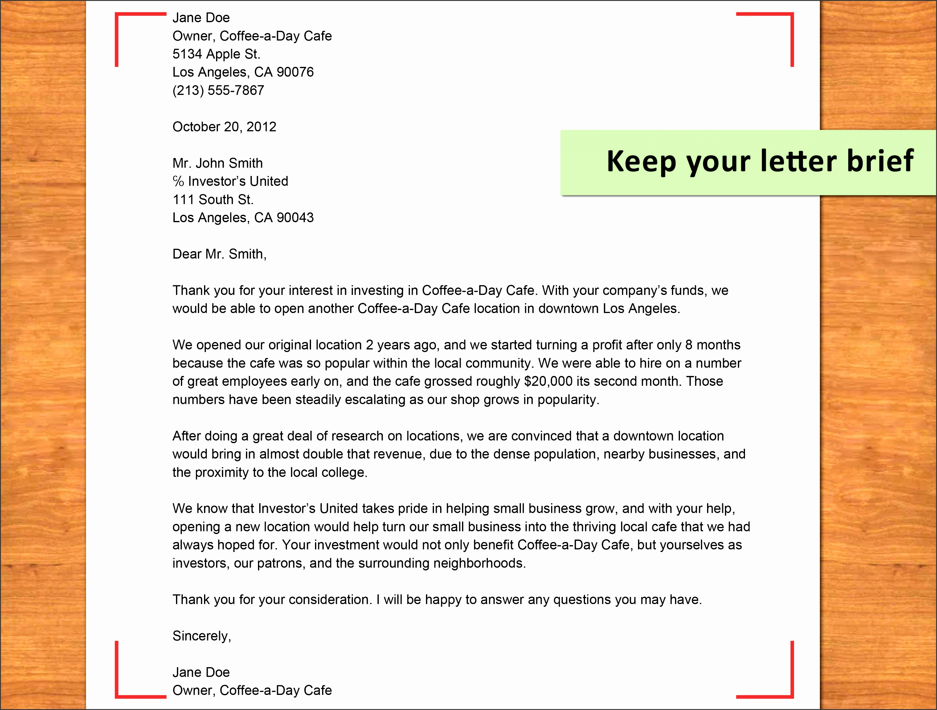 write an investor proposal letter step 17 version 2
