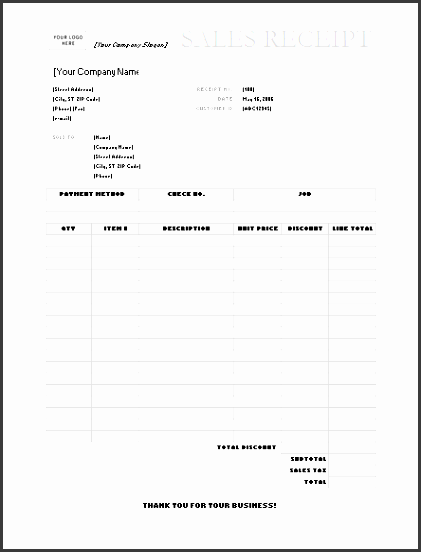 business invoice receipt template
