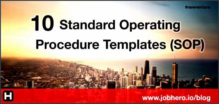10 standard operating procedure templates sop