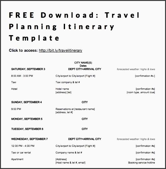 9 business travel plan format