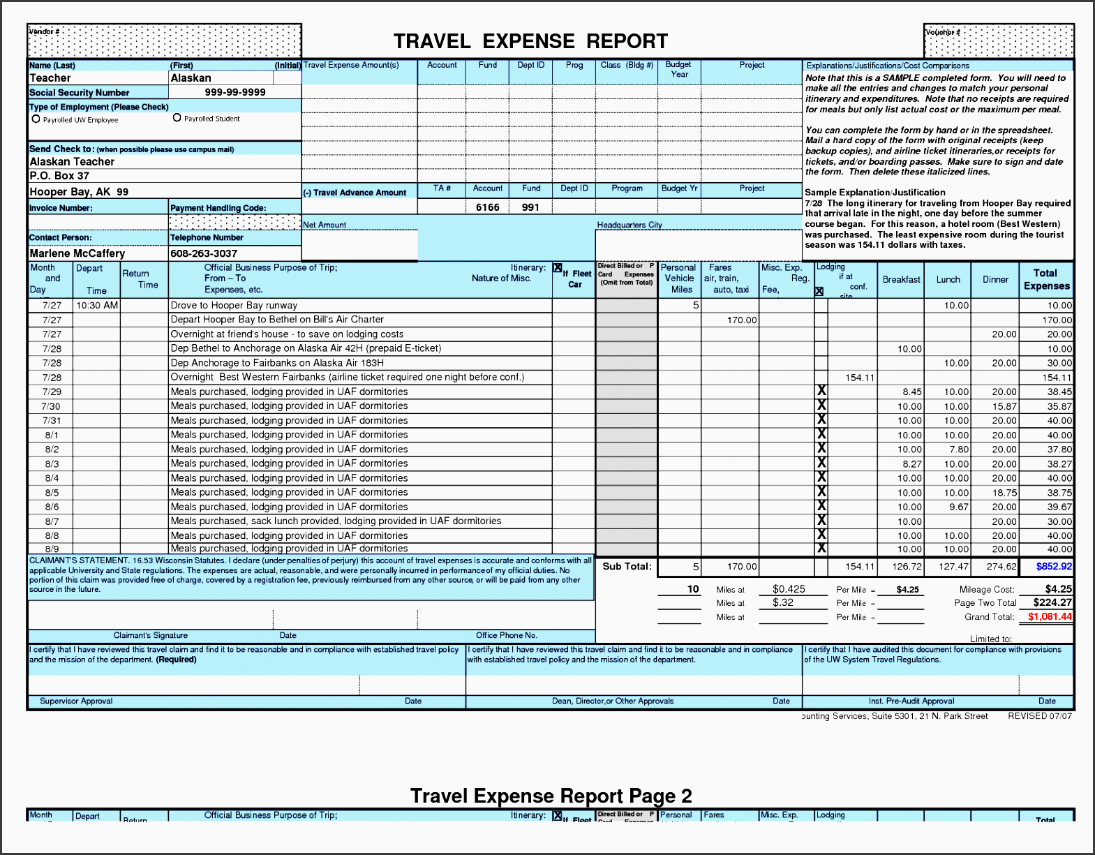 8 Business Travel Plan Template In Excel ...