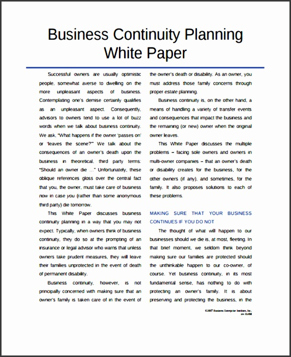 6 business white paper design template sampletemplatess business continuity planning 33 white paper templates in pdf cheaphphosting Image collections