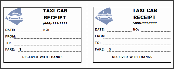 printable taxi receipt template 02