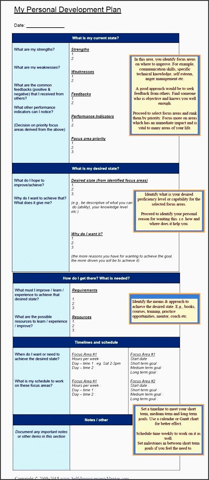 personal development plan template more