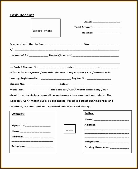 receipt for cash paymentsh down payment receipt example