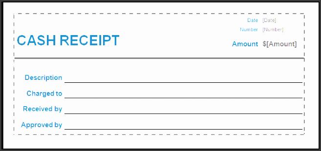 cash receipt format