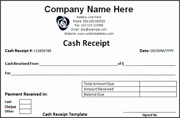 cash receipt template fit 651 2c422