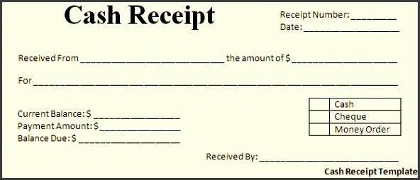 cash receipt template no posts