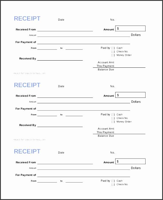 blank cash receipt template