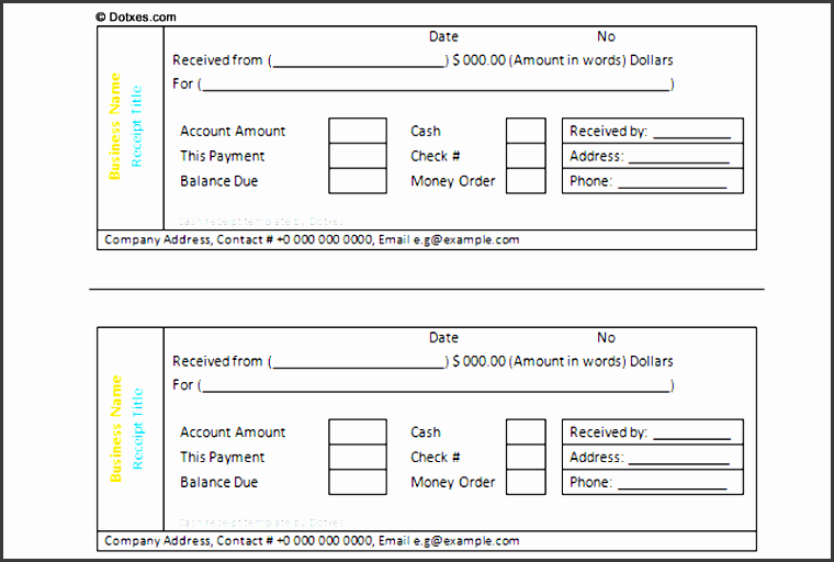 free printable cash receipt template 1 1 featured image