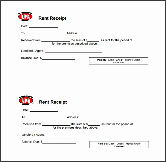 rental payment receipt template