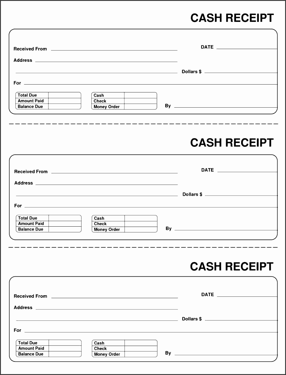 8 cash receipt template for sales