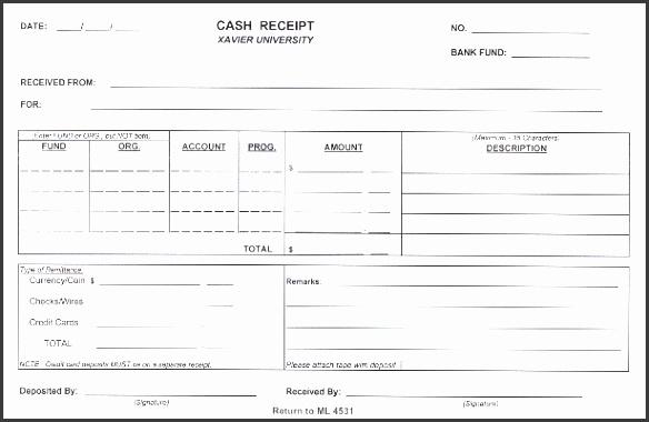 cash receipt form