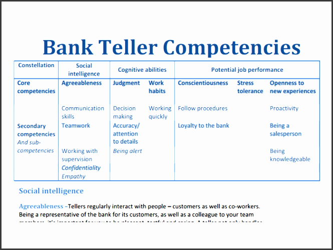 10 Cash Skills Assessment Template Sampletemplatess