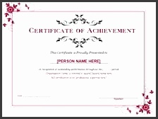 word achievement award certificate can be used to draft your own professional document of appreciation for
