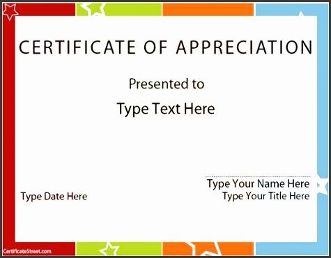 blank certificates certificate of appreciation