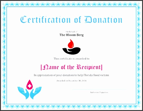 certificate of appreciation for donation example