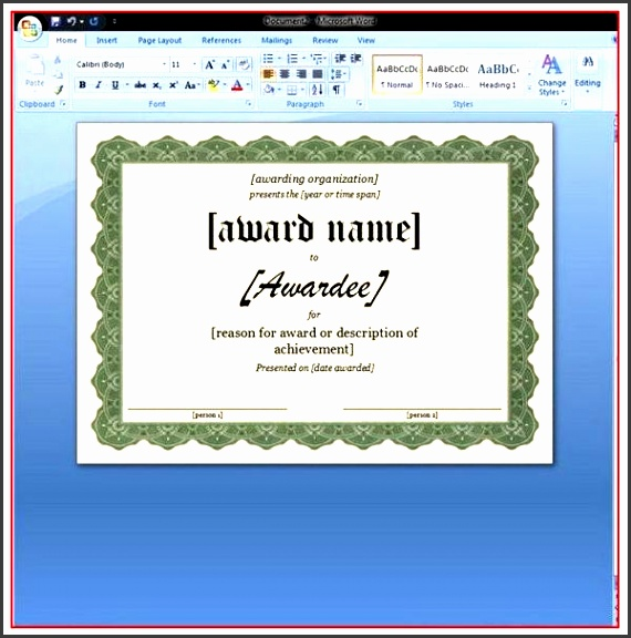 certificate of appreciation for word