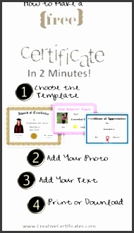 how to use the certificate maker step by step 4 steps with 3 sample