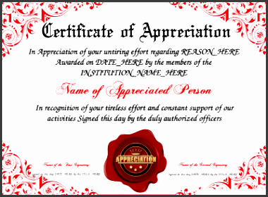 certificate of appreciation template free to customize print and email hundreds