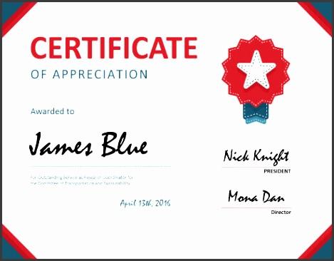 sample of certificates of appreciation template