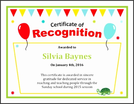 teacher certificate of recognition