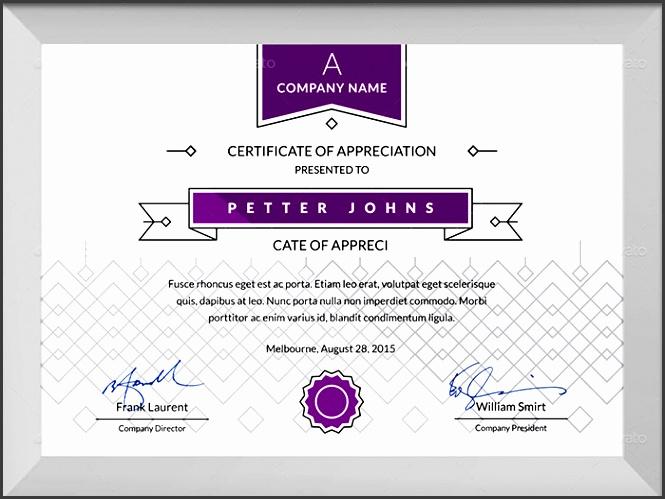 simple certificates template psd