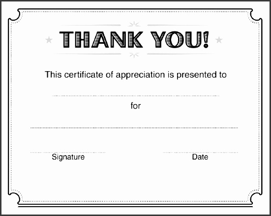 thank you certificate templates 9 certificate of appreciation templates free samples examples ideas