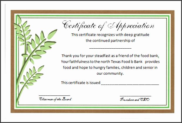 partnership certificate of appreciation template