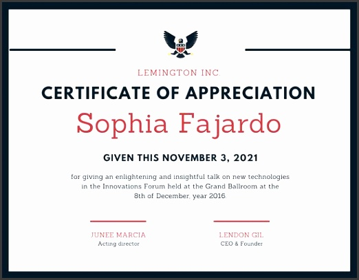 simple border with logo certificate of appreciation