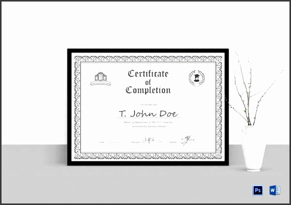 simple eps certificate of pletion template