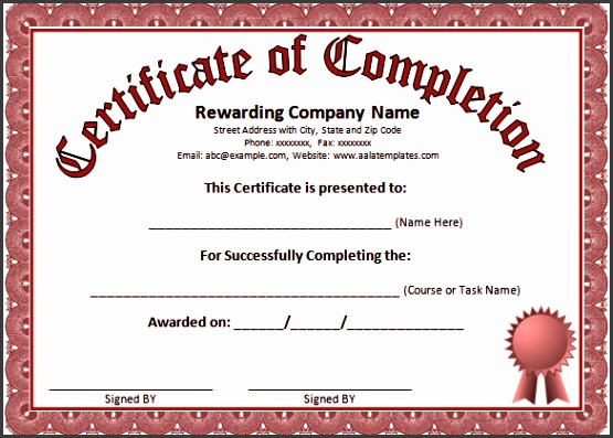 certificate of pletion template powerpoint certificate of pletion template powerpoint word certificate