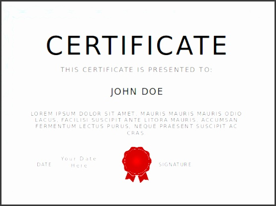 certificate of pletion template powerpoint