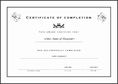 course pletion certificate templates