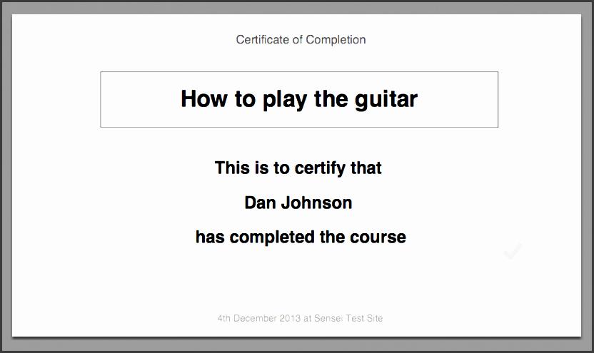 default certificate template