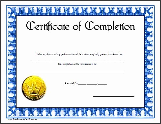 course pletion certificate template