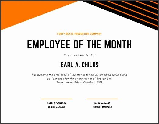orange and black lines pletion certificate