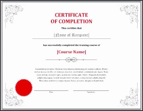 elegant training pletion certificate