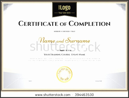 certificate of pletion template in vector for achievement graduation